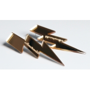 Lightening Bolt Earrings (Gold)