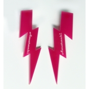 Amarachi - Lightning Bolt Earrings (Pink)