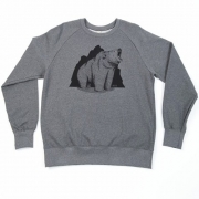 Grizzly Co - Roaring Bear Sweatshirt (Charcoal)