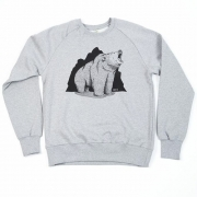 Grizzly Co - Roaring Bear Sweatshirt (Grey)