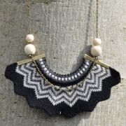 Amy Lawrence - Chevron Crown Knitted Necklace