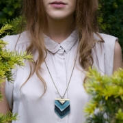 Amy Lawrence - Chevron Pendant Knitted Necklace