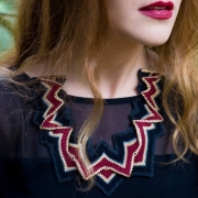 Amy Lawrence - Thistle Knitted Necklace