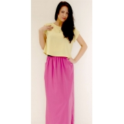 Long Skirt with Pockets (Pink)