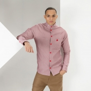 Red Tab Collar Shirt
