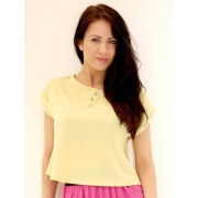 Crop Top with Buttons (Yellow)