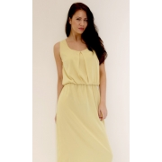 Pleated Maxi Dress (Yellow)