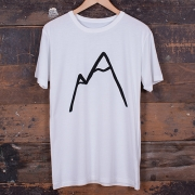 The Level Collective - Simple Mountain T-Shirt (White)