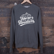 The Level Collective - Take Me To The Mountains Sweatshirt (Slate)