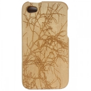 iPhone Wooden Case - Birds on Branches Design