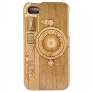 iPhone Wooden Case - Vintage Camera Design