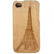 iPhone Wooden Case - Eiffel Tower Design