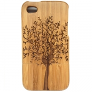 iPhone Wooden Case - Leafy Tree Design