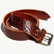 Leather Reuben Belt - Russet Crackle