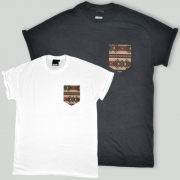 Patch Apparel - Brown Tribal Pocket T-shirt