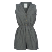 Glee Playsuit - Grey Chambray