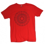 TeeBag Designs - Circle Print T-Shirt (Red)