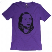 TeeBag Designs - I See Everything Print T-Shirt (Purple)