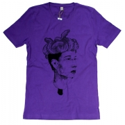 TeeBag Designs - Nest of Vipers Print T-Shirt (Purple)