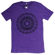 TeeBag Designs - Circle Print T-Shirt (Purple)