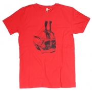TeeBag Designs - Skull Print T-Shirt (Red)